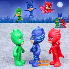 6 pj masks catboy owlette gekko romeo luna figure kid toy