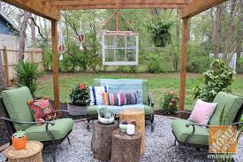 home depot design your own patio furniture backyard makeover pergola with bohemian style the home depot