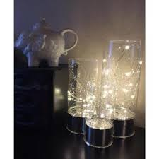 everlasting glow led lights everlasting glow clear glass hurricane jars with micro led string