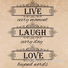 live laugh love quote clip art digital download png