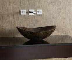 wallpaper bathroom ideas bathroom ideas stone vessel sinks bathroom in cream patterned