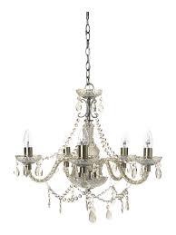 shabby chic laurent 5 arm chandelier house of fraser