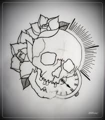 traditional skull outline search tattoos