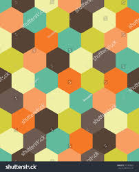 vector modern seamless colorful geometry hex stock vector