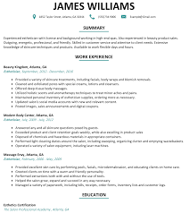 resume with picture sample esthetician resume sample resumelift com