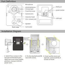 wifi visual intercom doorbell via smart mobile phone control silver