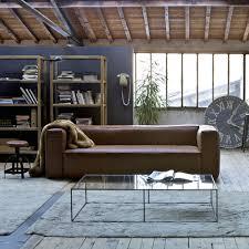 salon canapé cuir déco industrielle avec canapé cuir marron salon ampm dekobook
