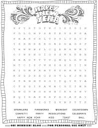 Halloween Word Search Free Printable New Year U0027s Printable Activities Entertain Your Kids With 4 New