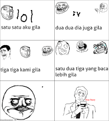Meme Comics Indonesia - ragegenerator rage comic rage meme comic lol indonesia newbie