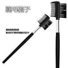 Sisir Alis gratis pengiriman baja hitam kosmetik makeup sikat batang panjang