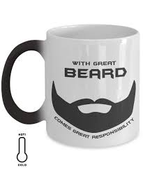 with great beard comes great responsibility mug manly mugs for