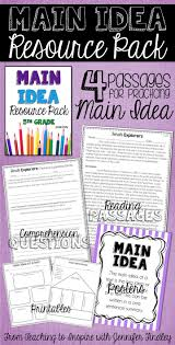 56 best main idea images on pinterest guided reading reading