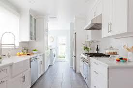 kitchen style farmhouse small galley kitchen remodel white glass