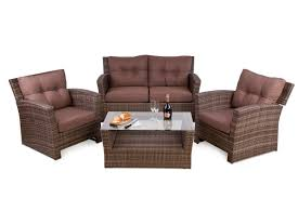 rattan sofa set with table in brown under 300 youtube