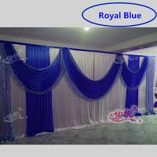 wedding backdrop blue beautiful royal blue wedding backdrop sequins swag silk stage