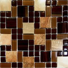 kitchen white brown mosaic glass tile backsplash for kitchen tile