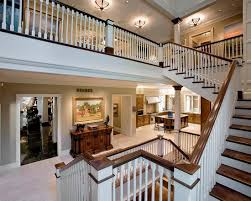 beautiful traditional staircase design using white balustrade