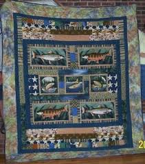 theme quilt handmade custom fishing themed quilt by songs and stitches