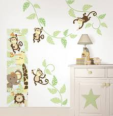 Nursery Monkey Wall Decals Monkeying Around Wall Kit By Wallpops Poptalk