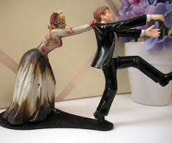 zombie wedding cake topper dudeiwantthat com