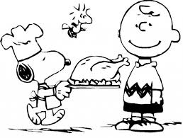 stylish charlie brown thanksgiving coloring pages regarding