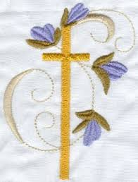 my embroidery blessed crosses religious heirloom machine