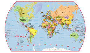 Primary Map Primary World Wall Map Political