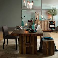 West Elm Dining Room Table Wooden Dining Room Benches Emmerson Reclaimed Wood Dining Table