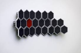 hive modular speakers system velvet cushion