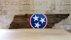 Tennesse Flag Tennessee Flag Wood Sign Tennessee Sign Tennessee State