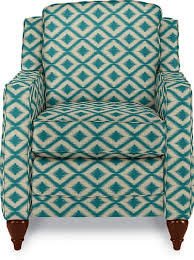 i love this bold aqua ikat print on a chair can you believe it u0027s