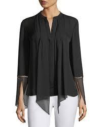 pleated blouse pleated sleeves blouse neiman
