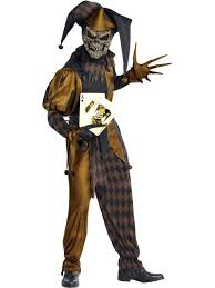 Scary Clown Halloween Costumes Adults Evil Jester Wild Joker Halloween Costume Scary Clown