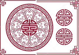 Oriental Design | vector set of oriental chinese design elements stock vector