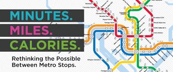 Metro Rail Map Dc rethinking dc metro map walking u0026 burning calories w a