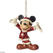 disney traditions santa mickey hanging ornament jim shore a27083
