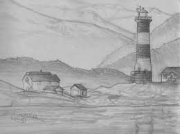 beautiful sketch of nature landscape by pencil drawing of sketch