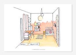 dessin chambre enfant une chambre de fille projet déco à baillet en a