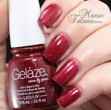 manic talons gel polish and nail art blog gelaze by china glaze