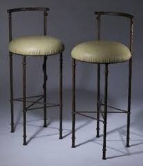 furniture black wrought iron bar stool with varnished wooden seat