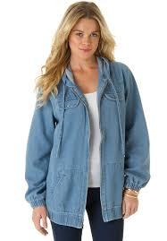 plus size light jacket plus size womens jean jacket bod jeans