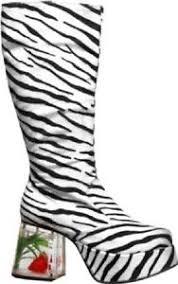 Boots Halloween Costume Zebra Platform Fish Heel Boots Halloween Costume Accessory