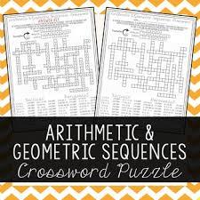 arithmetic u0026 geometric sequences arithmetic crossword puzzles