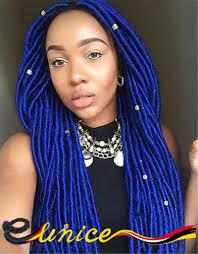 aliexpress com buy blue faux locks african braids hairstyles
