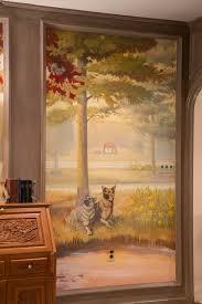 nicolette atelier a bespoke mural graphics studio panoramic landscape mural paneled modello ceiling
