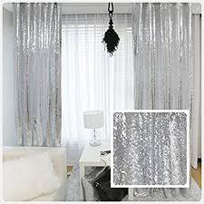 Curtains For Wedding Backdrop Amazon Com New Year 80 Off Sequin Silver Curtains Select You