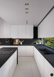 black walls white kitchen cabinets a kitchen features white kitchen cabinets with black