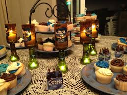 themed candles bud light themed birthday party candle holders made by muah