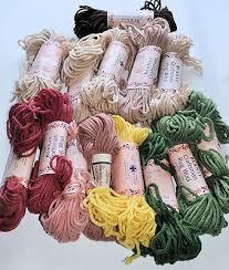 Rug Wool Yarn 14 Lot Vintage Rug Wool Yarn Bernat Craftsman Green Pink Beige