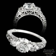 michael b engagement rings michael b jewelry platinum riviera 3 engagement ring